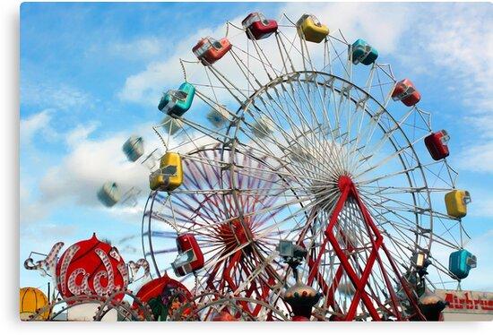 Let's Ride The Aladin Again - Fryeburg Fair by T.J. Martin