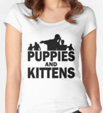 Z Nation: Puppies and Kittens Women's Fitted Scoop T-Shirt