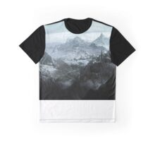Skyrim landscape Blackreach print Graphic T-Shirt
