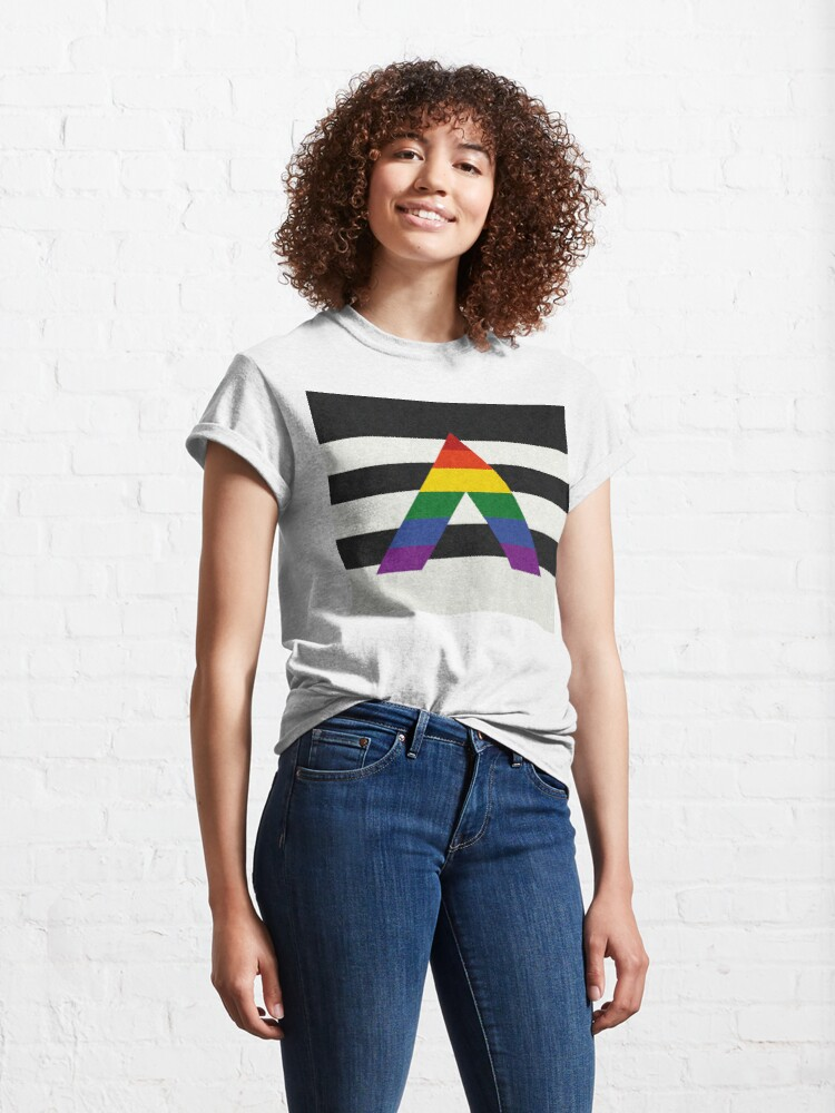 Alternate view of LGBT Ally Flag Classic T-Shirt