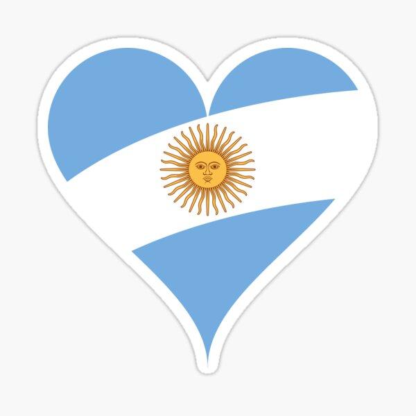 Corazón de la bandera de Argentina Pegatina
