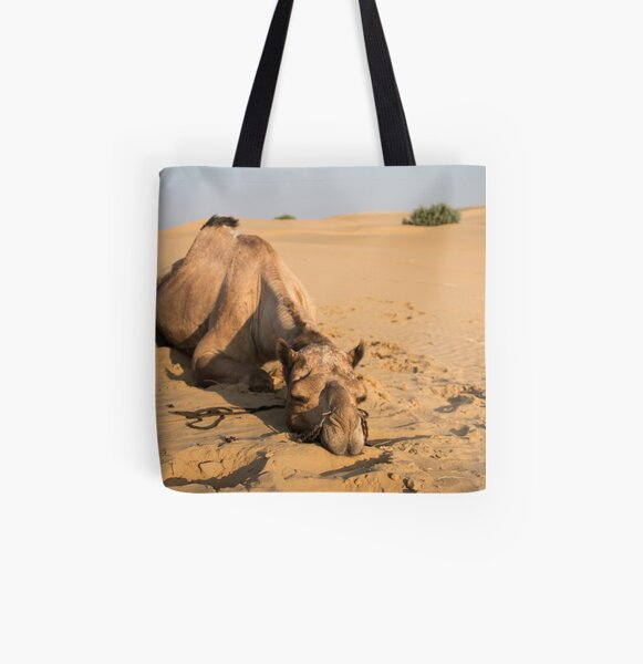 Poor Tired Camel All Over Print Tote Bag