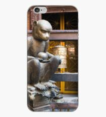 Monkey in a Buddhist temple iPhone Case