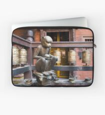 Monkey in a Buddhist temple Laptop Sleeve