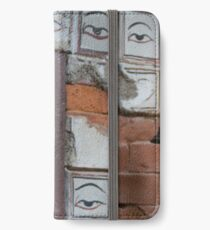 Bell and buddha eyes in a buddhist temple iPhone Wallet/Case/Skin