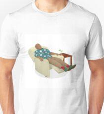 Black man wearing hawiian shirt T-Shirt