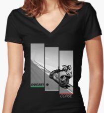Ducati Corse Women's Fitted V-Neck T-Shirt