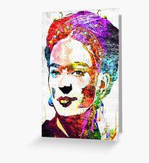 Frida Kahlo Grunge Greeting Card