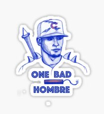 Javier Baez: One Bad Hombre Sticker