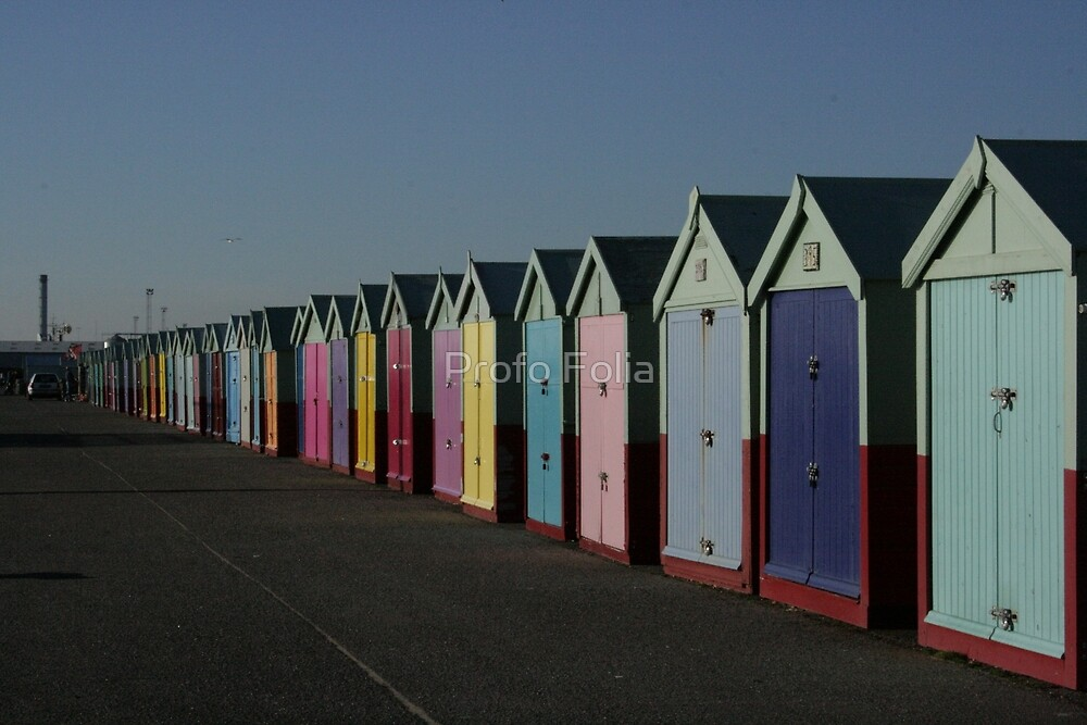 Beach huts of Hove, actually! by Profo Folia