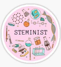 Steminist (Pink) Sticker