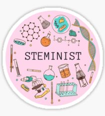 Steminist (Pink) Sticker