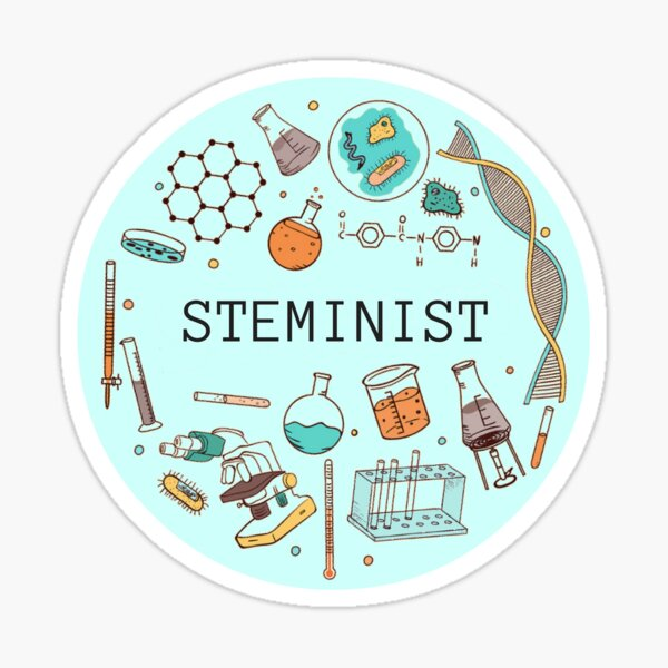 Steminist (Blue) Sticker
