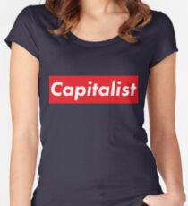 5ee9735b75de Capitalist supreme inspired Fitted Scoop T-Shirt