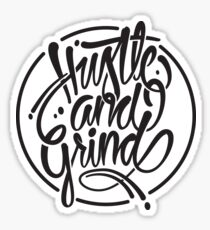 Hustle & grind Sticker