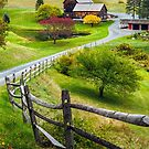 Sleepy Hollow Farm in Autumn by Randy  LeMoine