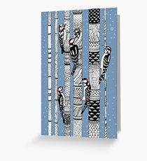 Woodpeckers Forest Greeting Card