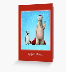 Will Bullas card / helper elves... Greeting Card