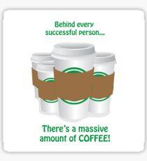 Successful Coffeeholic Sticker