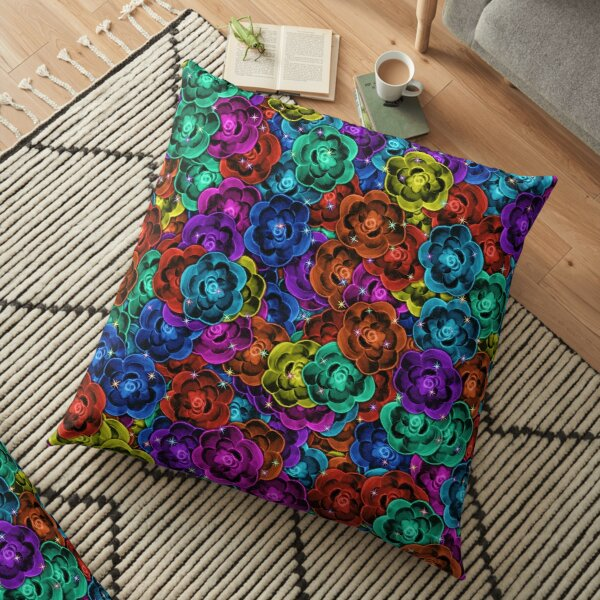 If Roses Were Wishes Floor Pillow