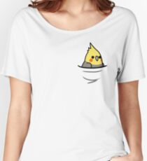 Too Many Birds! - Yellow Cockatiel Women's Relaxed Fit T-Shirt