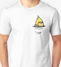 Too Many Birds! - Yellow Cockatiel T-Shirt