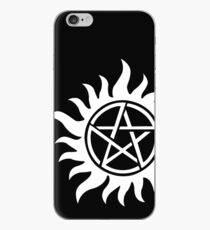 Anti-Possession Tattoo Symbol White Version - Supernatural Inspired iPhone Case