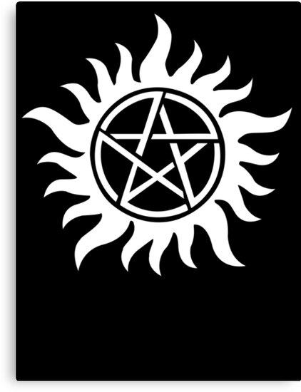 Anti Possession Tattoo Symbol White Version Supernatural Inspired