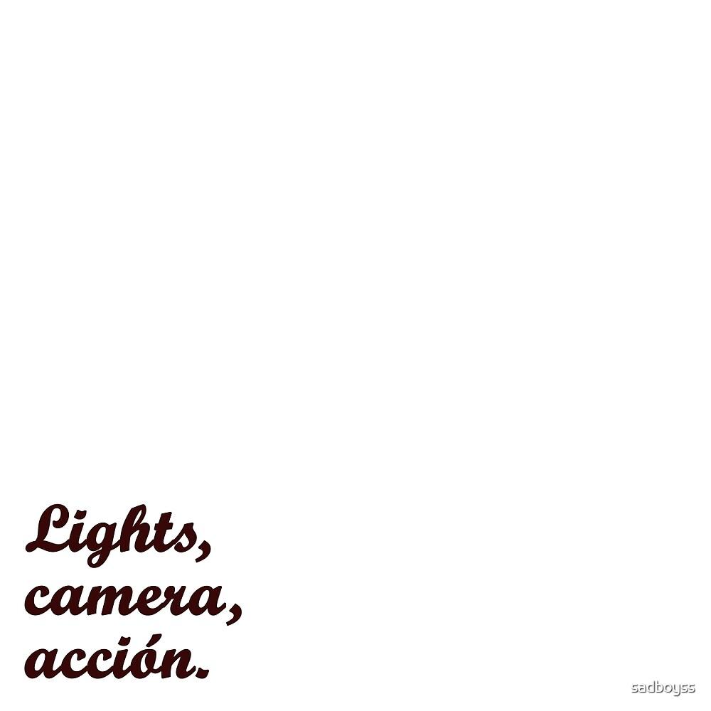 Lights, camera, acción {FULL} by sadboyss