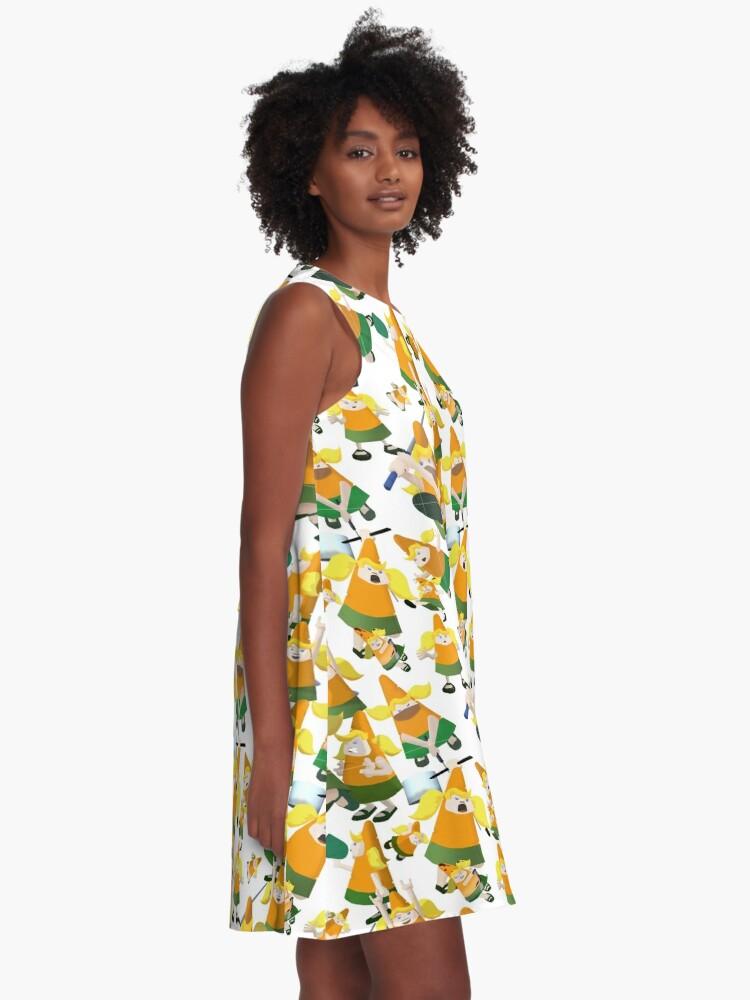 Alternate view of Carrot pattern A-Line Dress