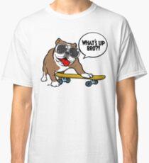 Cool english bulldog on board Classic T-Shirt