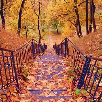 Stairs in the Fall by CatyArte