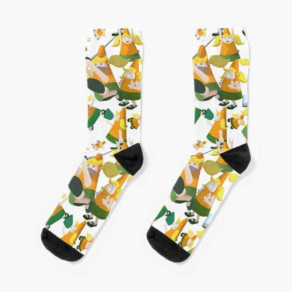 Carrot pattern Socks