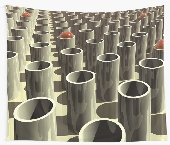 Stockyard of Cylinders by Phil Perkins