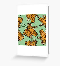colourful autumn leaves  Greeting Card