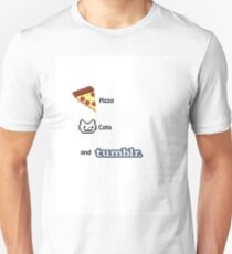 Pizza, Cats, And Tumblr T-Shirt