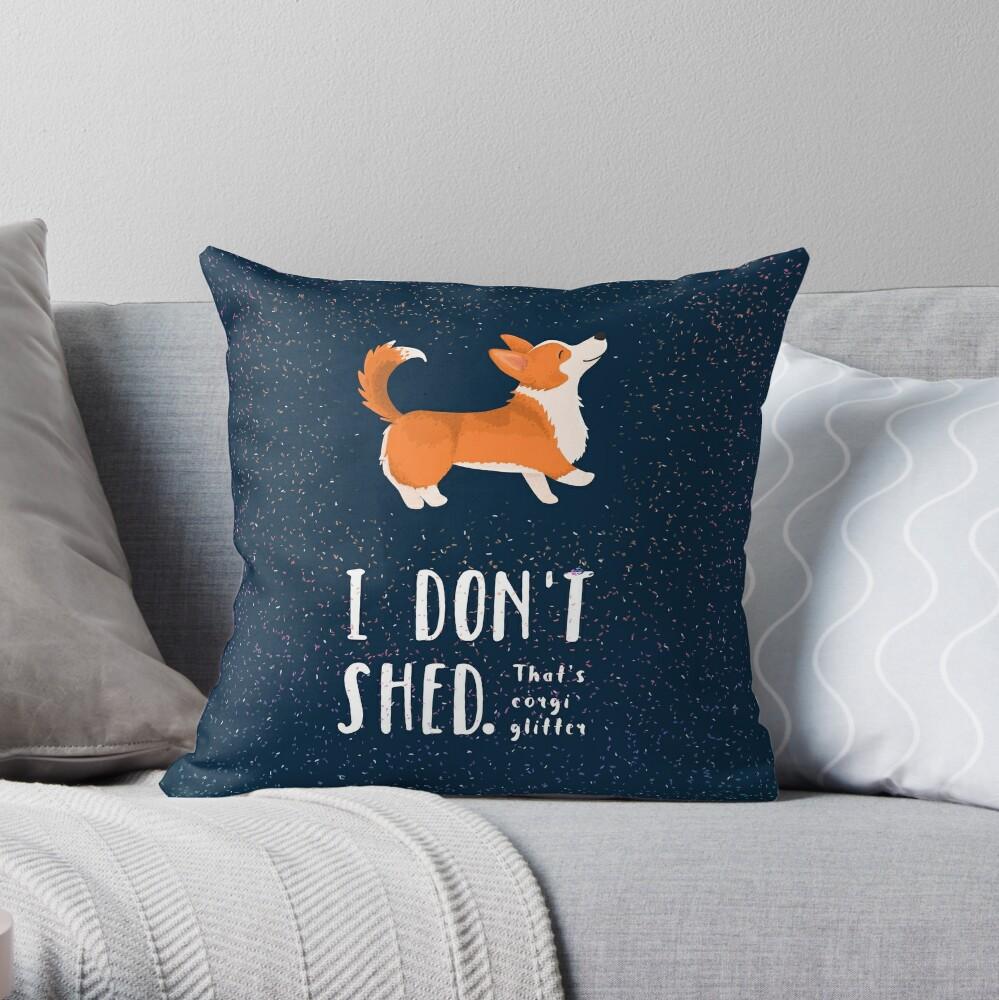 Corgi Glitter (Pembroke Welsh Corgi) Throw Pillow