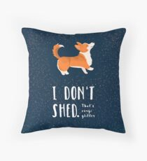 Corgi Glitter (Pembroke Welsh Corgi) Throw Pillow