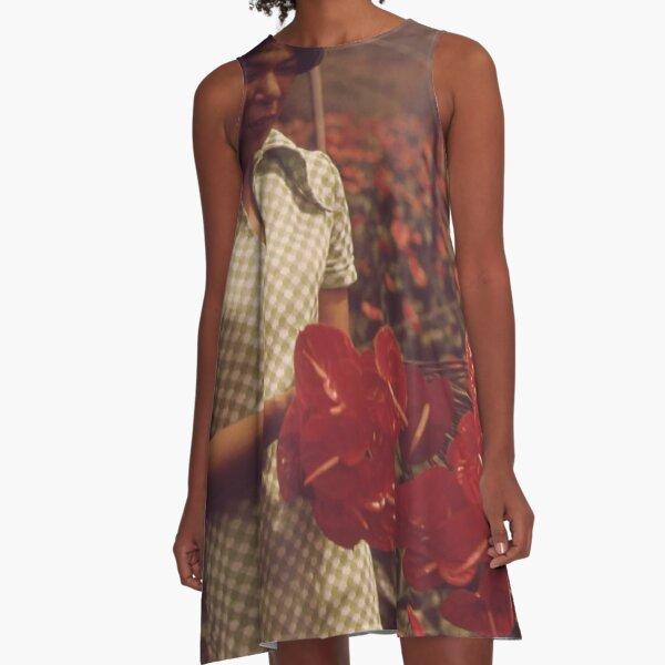 Anthurium Flowers A-Line Dress