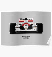 McLaren MP4/6A - Ayrton Senna Front view Art print Poster