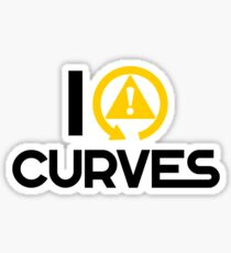 I love curves (7) Sticker