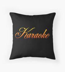 Vintage Colorful Karaoke Throw Pillow