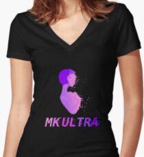 MK ULTRA Women's Fitted V-Neck T-Shirt