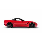 2016 Chevrolet Corvette Stingray Z51 Convertible Side view art photo print by ArtNudePhotos