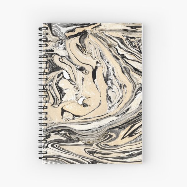 Golden marble Spiral Notebook