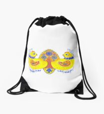 Decorative Trident Drawstring Bag