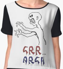 grr...argh with colour Women's Chiffon Top