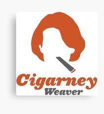 """Cigarney Weaver"" Sigourney Weaver Cigar Shirt Canvas Print"