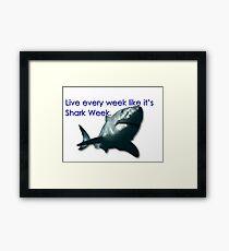 30 Rock - Shark Week Framed Print