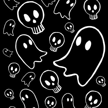 Ghosts and Skulls by ratgirlstudios